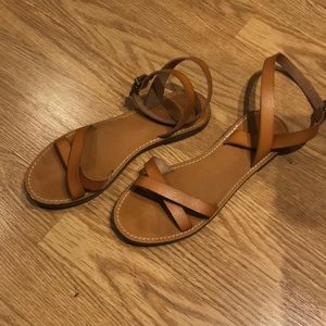 Used J.crew Factory Flat Sandals